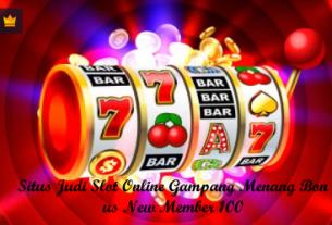 SitusJudiSlotOnlineGampangMenangBonusNewMember100